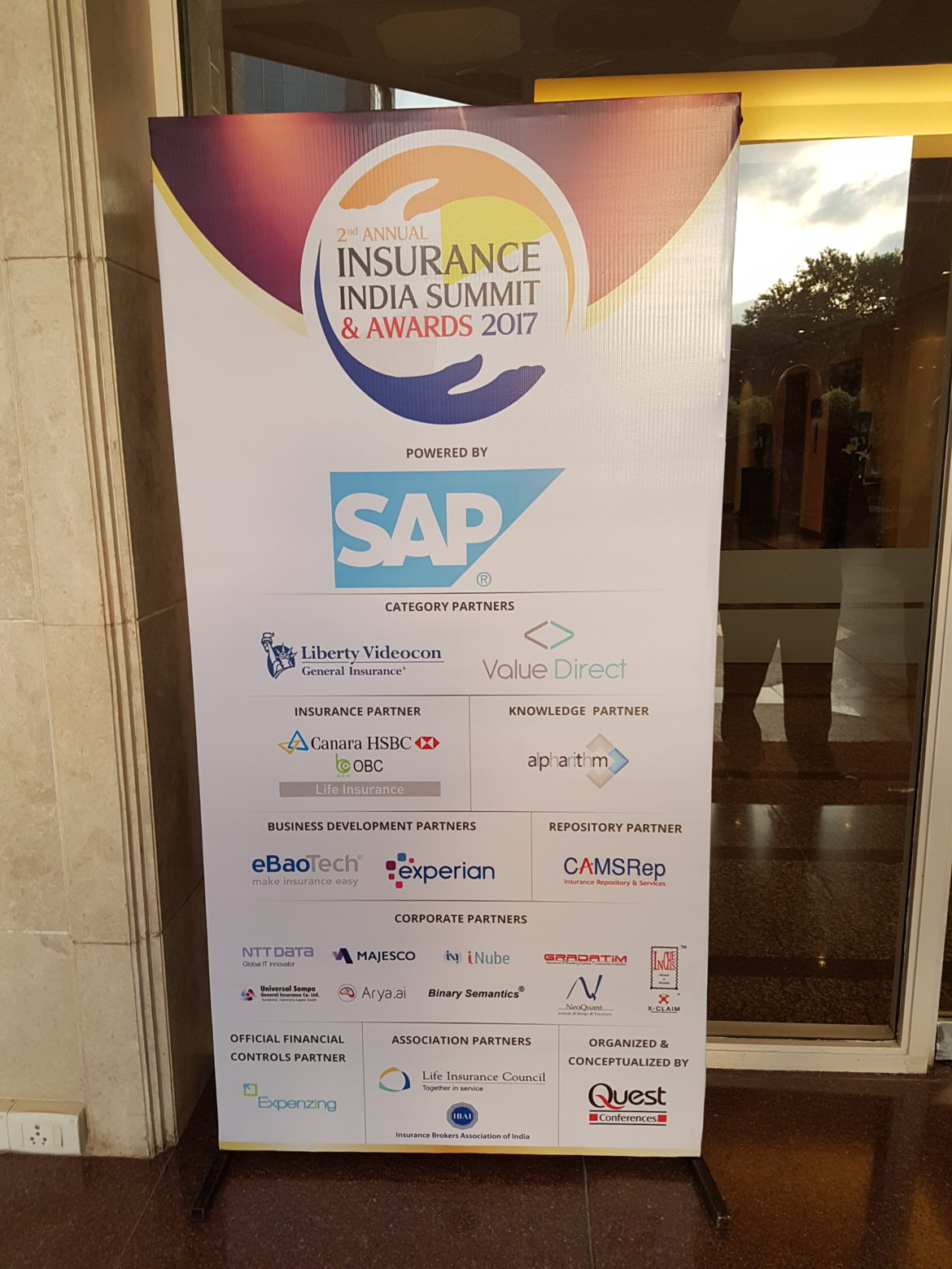 Alpharithm Standee 1 at the Insuance summit 2017