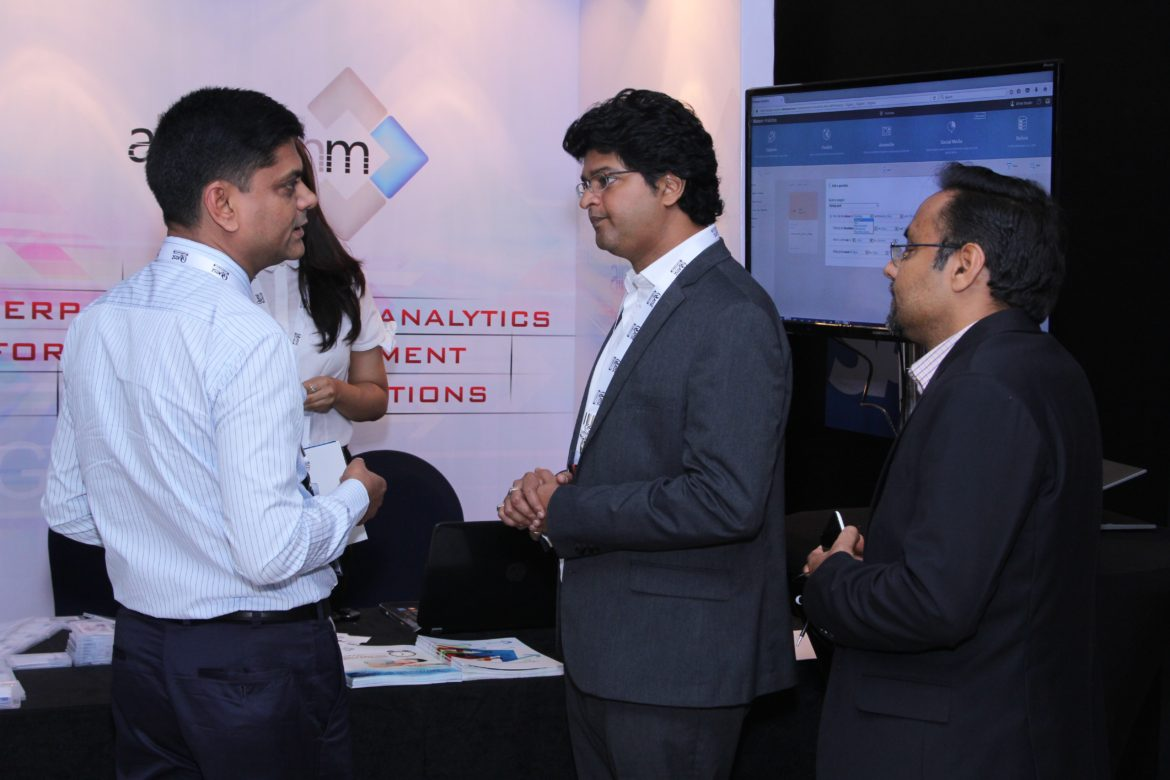 Sri with client at the Insurance summit 2017